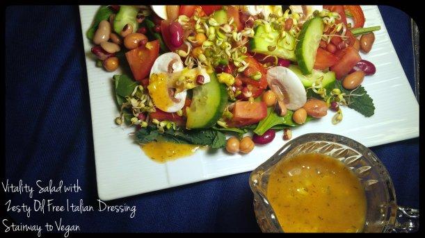 Vitality Salad with Zesty Oil Free Italian Dressing
